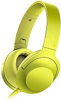 Наушники-гарнитура Sony MDR-100AAPY (лимонно-желтый) -
