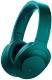 Наушники-гарнитура Sony MDR-100ABNL (малахитово-синий) -