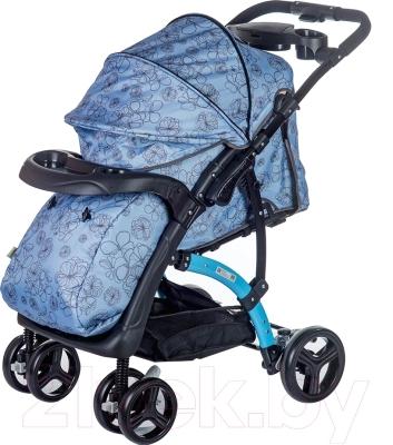 Детская прогулочная коляска Babyhit Flora (голубой)