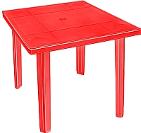 Стол пластиковый Эльфпласт Верона квадратный (красный) -