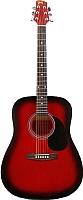 Акустическая гитара Mingde SDG135 red-burst -