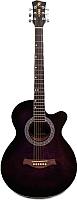 Акустическая гитара Swift Horse W-60C/OVTS tiger dark violet-burst -