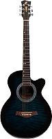 Акустическая гитара Swift Horse W-60C/OBLS tiger dark blue-burst -