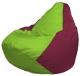Бескаркасное кресло Flagman Груша Мини Г0.1-169 (салатовый/бордовый) -