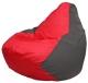 Бескаркасное кресло Flagman Груша Мини Г0.1-170 (красный/темно-серый) -
