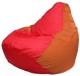 Бескаркасное кресло Flagman Груша Мини Г0.1-176 (красный/оранжевый) -