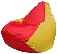 Бескаркасное кресло Flagman Груша Мини Г0.1-178 (красный/желтый) -