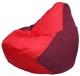 Бескаркасное кресло Flagman Груша Мини Г0.1-180 (красный/бордовый) -
