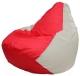 Бескаркасное кресло Flagman Груша Мини Г0.1-181 (красный/белый) -