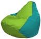 Бескаркасное кресло Flagman Груша Мини Г0.1-182 (салатовый/бирюзовый) -