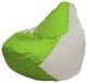 Бескаркасное кресло Flagman Груша Мини Г0.1-183 (салатовый/белый) -