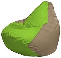 Бескаркасное кресло Flagman Груша Мини Г0.1-186 (салатовый/темно-бежевый) -