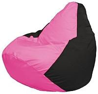Бескаркасное кресло Flagman Груша Мини Г0.1-188 (розовый/черный) -