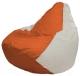 Бескаркасное кресло Flagman Груша Мини Г0.1-189 (оранжевый/белый) -