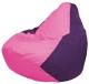 Бескаркасное кресло Flagman Груша Мини Г0.1-191 (розовый/фиолетовый) -