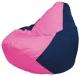 Бескаркасное кресло Flagman Груша Мини Г0.1-192 (розовый/темно-синий) -