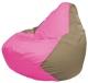 Бескаркасное кресло Flagman Груша Мини Г0.1-193 (розовый/темно-бежевый) -