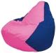 Бескаркасное кресло Flagman Груша Мини Г0.1-195 (розовый/синий) -