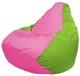 Бескаркасное кресло Flagman Груша Мини Г0.1-197 (розовый/салатовый) -