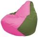 Бескаркасное кресло Flagman Груша Мини Г0.1-198 (розовый/оливковый) -