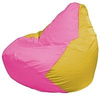 Бескаркасное кресло Flagman Груша Мини Г0.1-201 (розовый/желтый) -