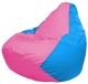 Бескаркасное кресло Flagman Груша Мини Г0.1-202 (розовый/голубой) -