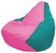 Бескаркасное кресло Flagman Груша Мини Г0.1-204 (розовый/бирюзовый) -