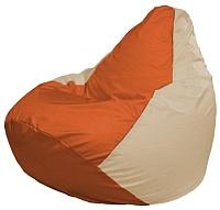 Бескаркасное кресло Flagman Груша Мини Г0.1-207 (оранжевый/светло-бежевый) -