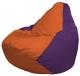 Бескаркасное кресло Flagman Груша Мини Г0.1-208 (оранжевый/фиолетовый) -