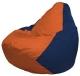 Бескаркасное кресло Flagman Груша Мини Г0.1-209 (оранжевый/темно-синий) -