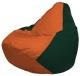 Бескаркасное кресло Flagman Груша Мини Г0.1-212 (оранжевый/темно-зеленый) -