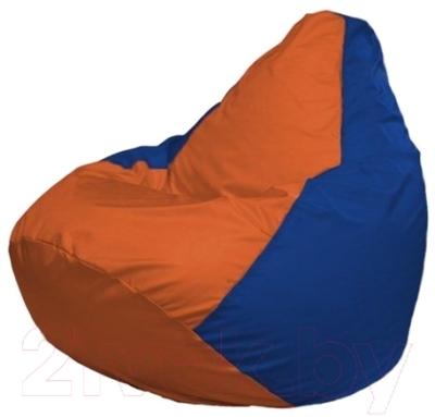 Бескаркасное кресло Flagman Груша Мини Г0.1-213 (оранжевый/синий)