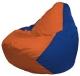 Бескаркасное кресло Flagman Груша Мини Г0.1-213 (оранжевый/синий) -