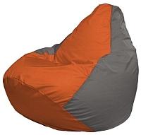 Бескаркасное кресло Flagman Груша Мини Г0.1-214 (оранжевый/серый) -