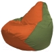 Бескаркасное кресло Flagman Груша Мини Г0.1-216 (оранжевый/оливковый) -