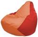 Бескаркасное кресло Flagman Груша Мини Г0.1-217 (оранжевый/красный) -
