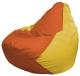 Бескаркасное кресло Flagman Груша Мини Г0.1-219 (оранжевый/желтый) -