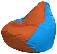 Бескаркасное кресло Flagman Груша Мини Г0.1-220 (оранжевый/голубой) -