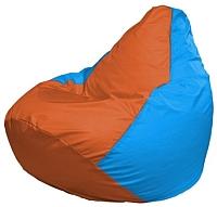 Бескаркасное кресло Flagman Груша Мини Г0.1-221 (оранжевый/голубой) -