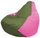 Бескаркасное кресло Flagman Груша Мини Г0.1-226 (оливковый/роза) -