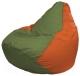 Бескаркасное кресло Flagman Груша Мини Г0.1-227 (оливковый/оранжевый) -