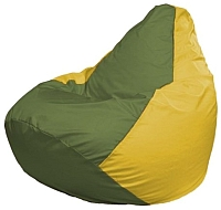 Бескаркасное кресло Flagman Груша Мини Г0.1-228 (оливковый/желтый) -