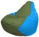 Бескаркасное кресло Flagman Груша Мини Г0.1-229 (оливковый/голубой) -