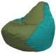 Бескаркасное кресло Flagman Груша Мини Г0.1-230 (оливковый/бирюзовый) -
