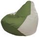 Бескаркасное кресло Flagman Груша Мини Г0.1-231 (оливковый/белый) -