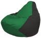 Бескаркасное кресло Flagman Груша Мини Г0.1-235 (зеленый/черный) -