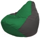 Бескаркасное кресло Flagman Груша Мини Г0.1-238 (зеленый/темно-серый) -