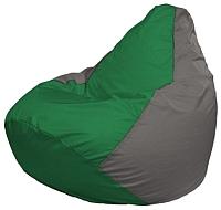 Бескаркасное кресло Flagman Груша Мини Г0.1-239 (зеленый/серый) -