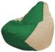Бескаркасное кресло Flagman Груша Мини Г0.1-240 (зеленый/светло-бежевый) -