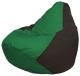Бескаркасное кресло Flagman Груша Мини Г0.1-242 (зеленый/коричневый) -
